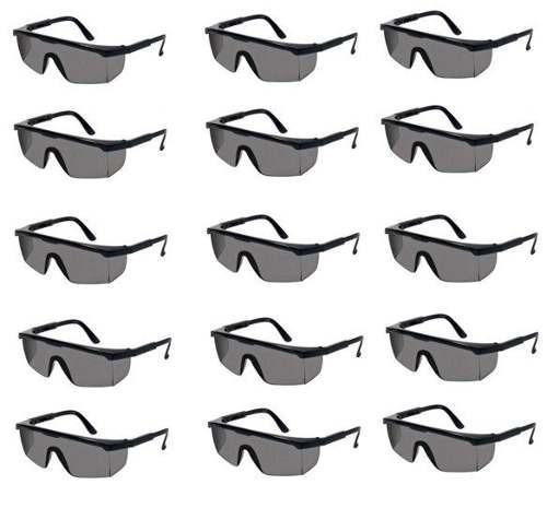 Kit 15 Óculos De Segurança Jaguar Cinza Fumê Epi Kalipso - R  50,00 ... 89291234b3