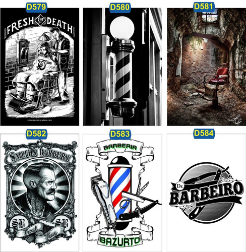 kit 15 placas decorativa barber shop vintagê retrô barbearia