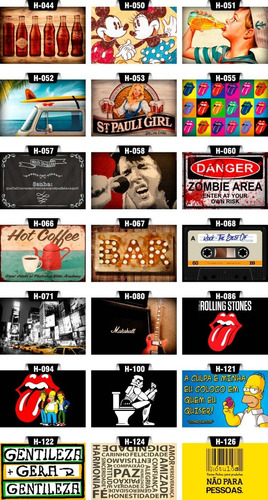 kit 15 placas placas decorativas mdf bar retrô cerveja