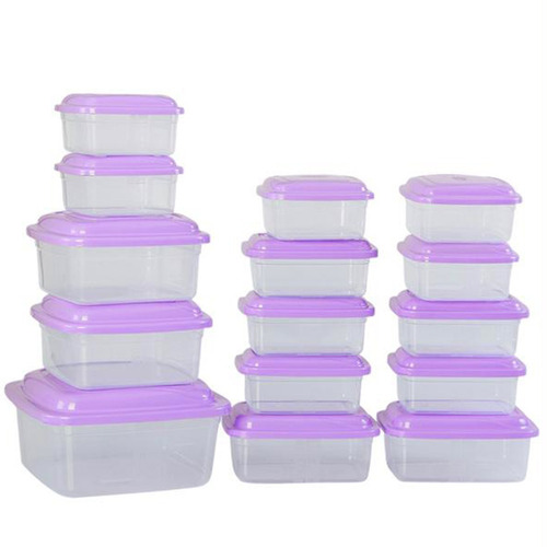kit 15 potes vasilhas de plásticos p/ freezer micro-ondas