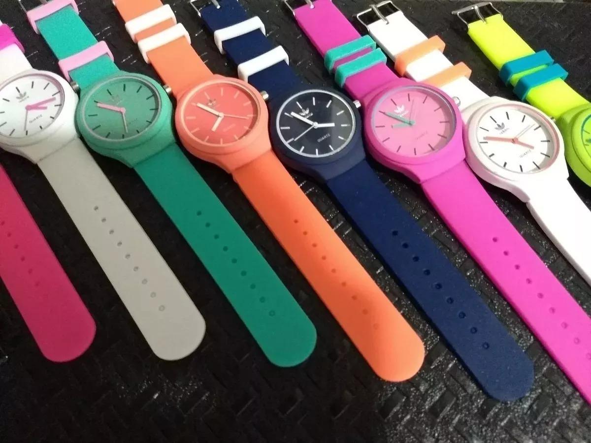 06dc1a84ac5 Kit 15 Relógios adidas Colors Unissex Moderno Jovem  dahora! - R ...