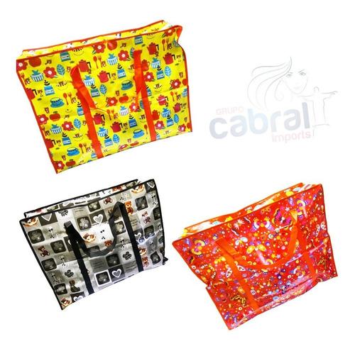 kit 15 sacolas super mercado bolsa ecologica feira oferta