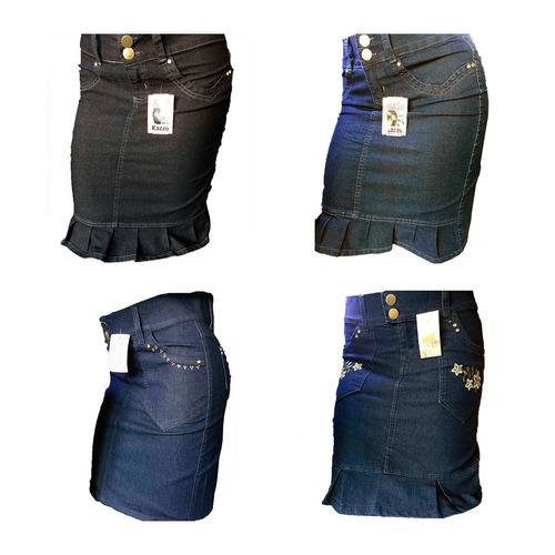 kit 15 saia jeans moda evangelica igreja secretaria atacado