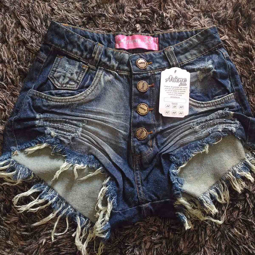 kit 15 shorts jeans femininos cintura alta hot pants atacado