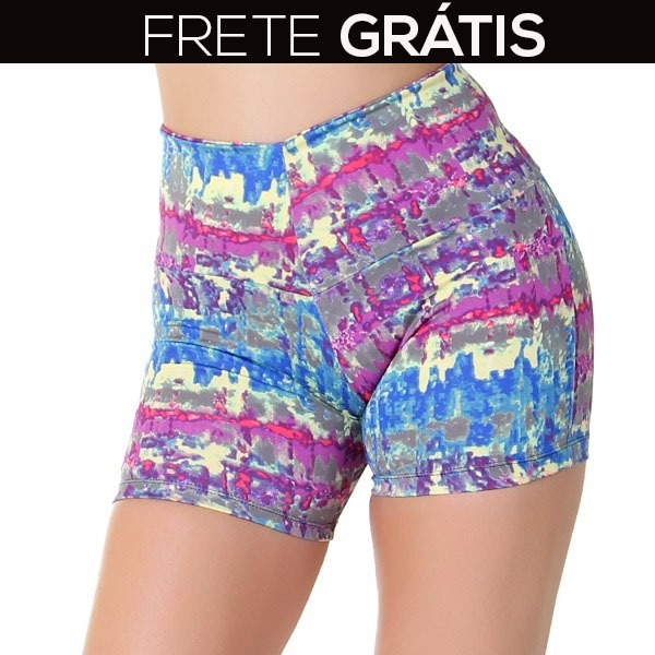 9d625b242 Kit 15 Shorts Suplex Feminino Cintura Alta Fitness Atacado - R  149 ...