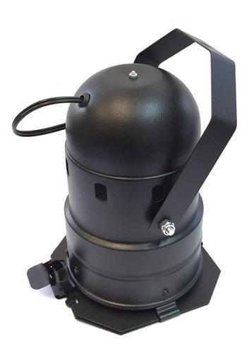 kit 15 unidades canhão refletor par 38 preto porta-gelatina