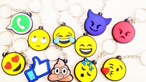kit 150 chaveiros borracha emoji whatsapp emoticon carinhas