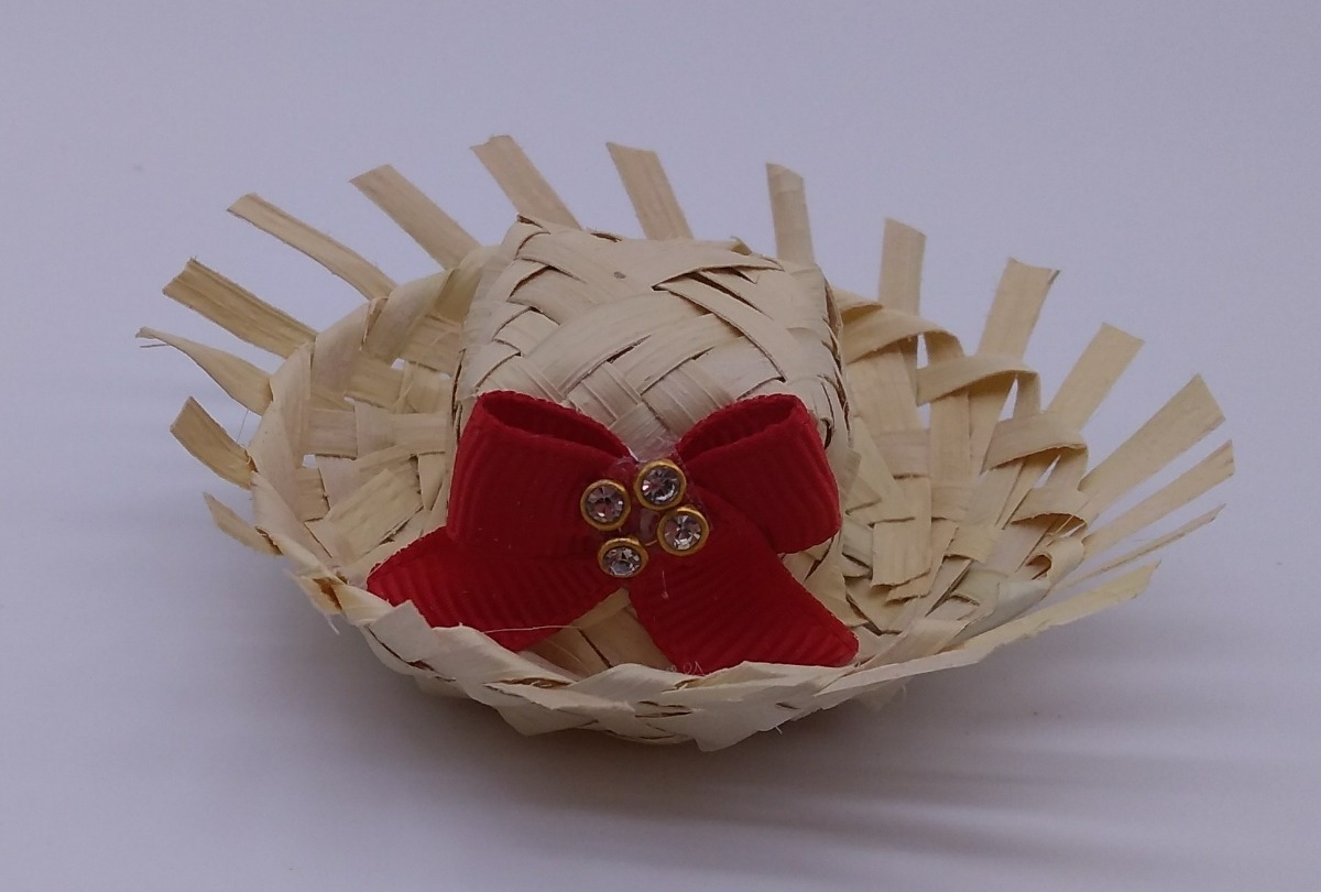 70176dfba9cb6 kit 150 mini chapeu de palha com laço enfeite festa junina. Carregando zoom.