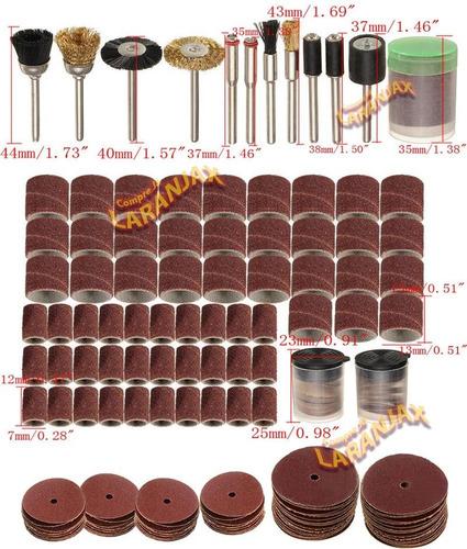 kit - 150 peças dremel micro retifica lixa tubo disco escova