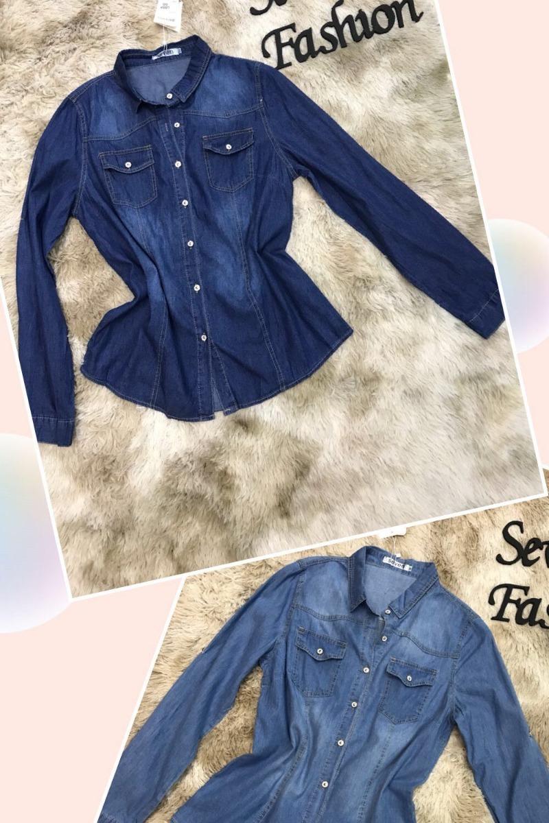92c7eab95 kit 15pcs camisa jeans lisa feminina 2019 atacado revenda. Carregando zoom.