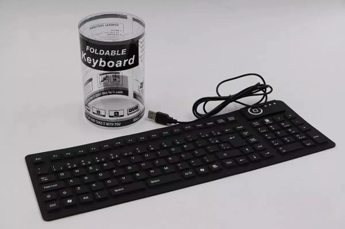 kit 15x teclado emborrachado silicone borracha usb xz-105