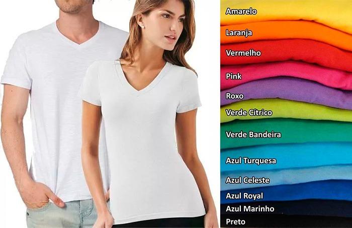 1f72028e7 Kit 16 Camisetas Gola V Colorida 100% Poliéster Sublimação - R  233 ...
