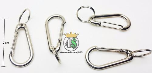 kit 16 chaveiro mosquetão metal gancho - atacado promoção