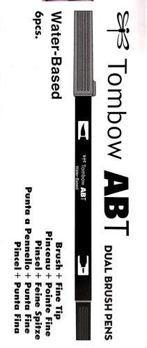kit 16 cores pincel marcador ponta dupla dual brush tombow