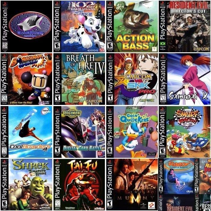 Kit 16 Jogos De Ps1, Para Ps1, Psone, Ps1, Playstation Patch