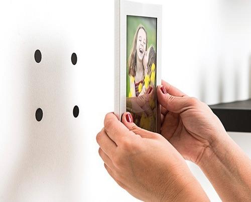 kit 16 par fixador de contato adesivo parede quadro redondo