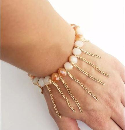 kit 16 pulseiras correntinhas franja bijoterias frete gratis