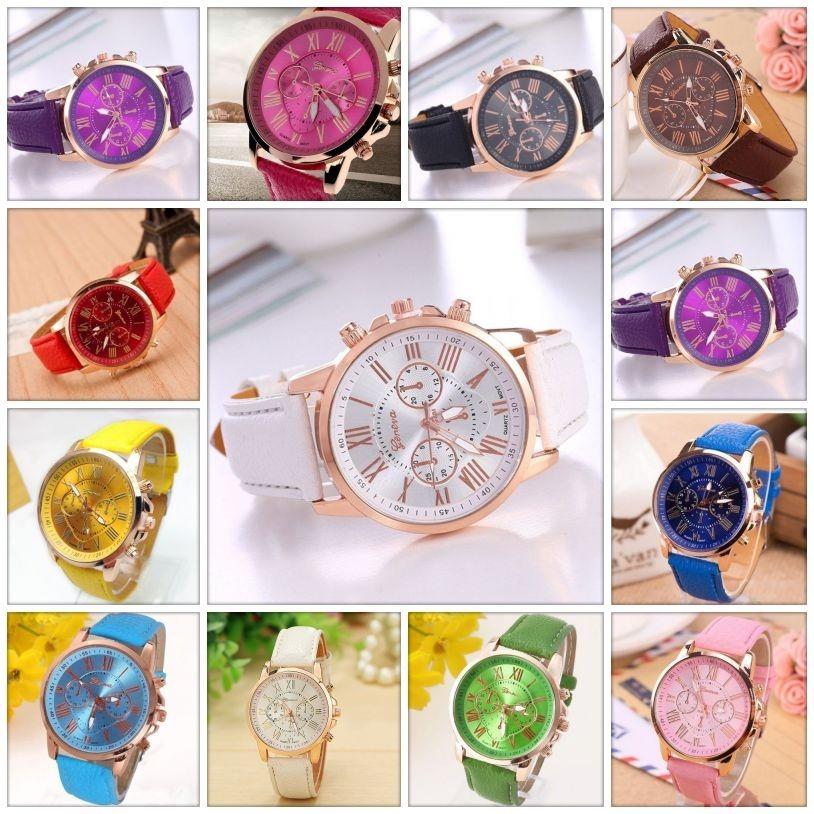 d0aa24d194d kit 16 relógio feminino barato para revenda couro promoção. Carregando zoom.