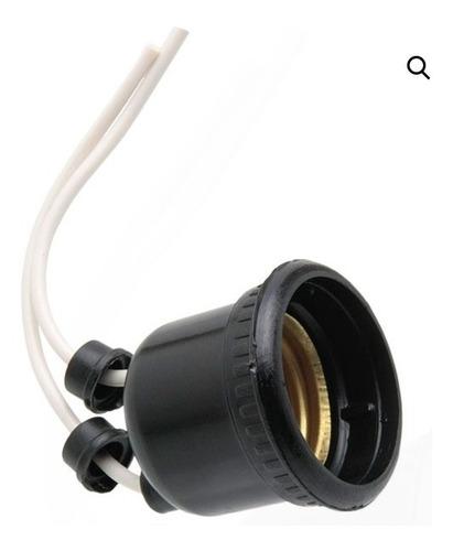 kit 160 soquete rabicho preto e-27 soquete teto para lâmpada