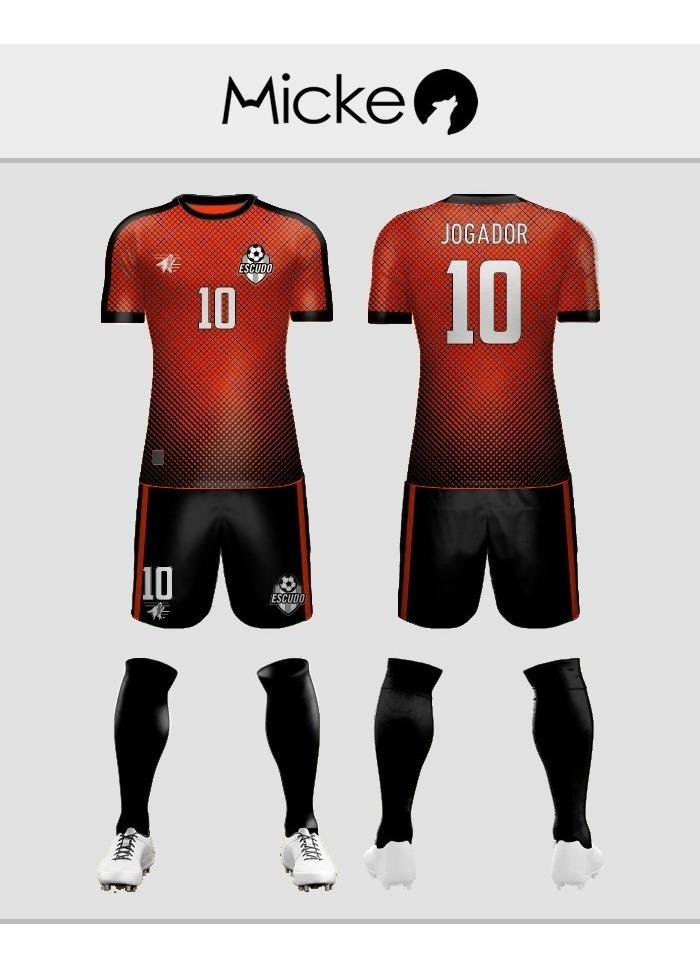 a63a855c77 kit 17 conjuntos uniforme de futebol personalizado dry fit. Carregando zoom.