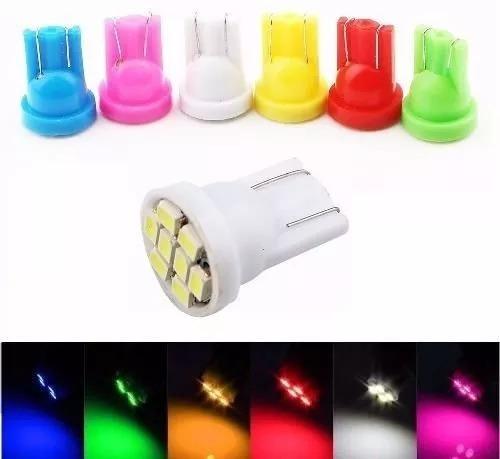 kit 17 pares lâmpadas automotivas pingo 9 led t10 w5w