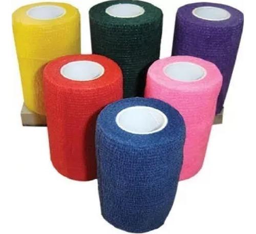 kit 18 bandagem/atadura elástica flexível tipo coflex 5cm