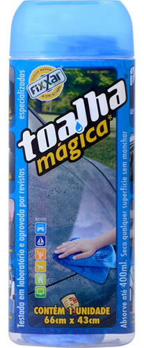 kit 18 toalha magica original fixxar super absorv 66x43cm