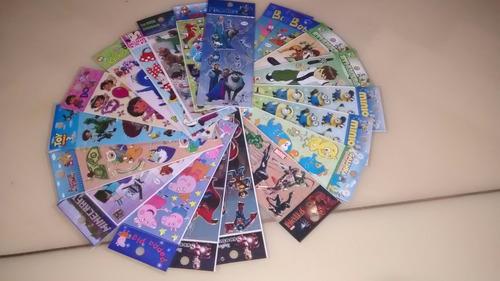 kit 180 cartelas adesivos stickers pokemon princesas ladybug