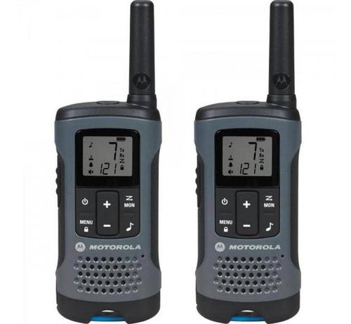 kit 18un radio comunicador talkabout t200br cinza motorola