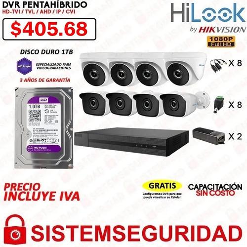 kit 2 4 6 8 10 12 16 cámaras seguridad hilook 1080p cctv
