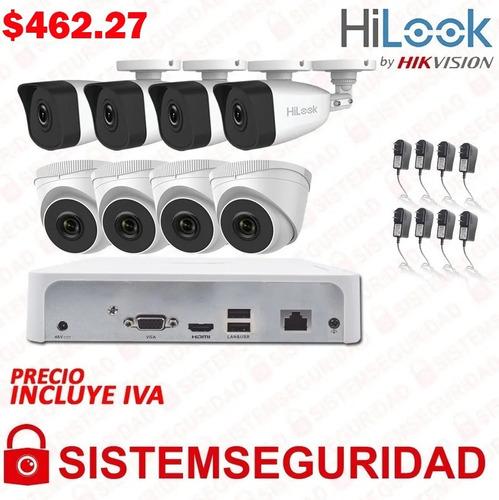 kit 2 4 6 8 camaras de seguridad ip 2mp hilook by hikvision