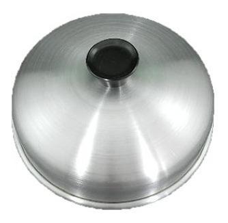 kit 2 abafador de hamburguer em alumínio