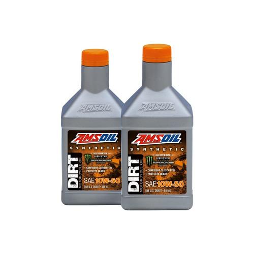 kit 2 aceite sintetico amsoil motos motocross 10w50 db50qt