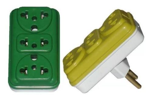 kit 2 adaptador tomada benjamim padrão universal t plug pino