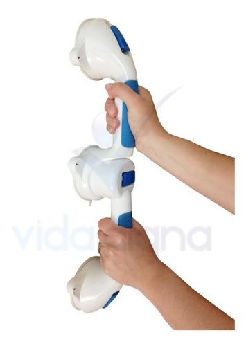 kit 2 agarraderas doble succión barra seguridad baño wc