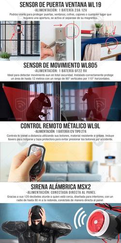 kit 2 alarma gsm tel alerta sms inalambrica app vecinal casa