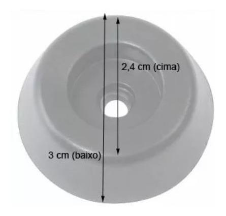 kit 2 alça de caixa de som + 8 cantoneira + 1 copo + 4 pé