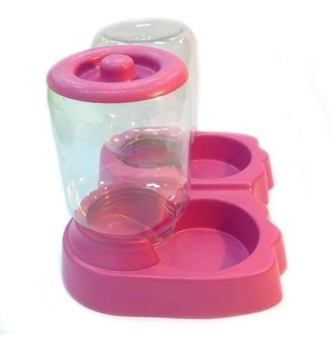 kit 2 alimentador automatico duplo bebedouro cachorros 1,5kg