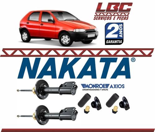 kit 2 amortecedor dianteiro nakata + kit axios palio 96 97