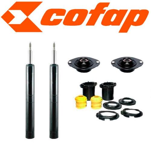 kit 2 amortecedores dianteiros kadett + kits + coxins