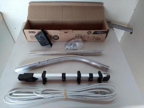 kit  2 antenas externa tv digital  suporte cabo