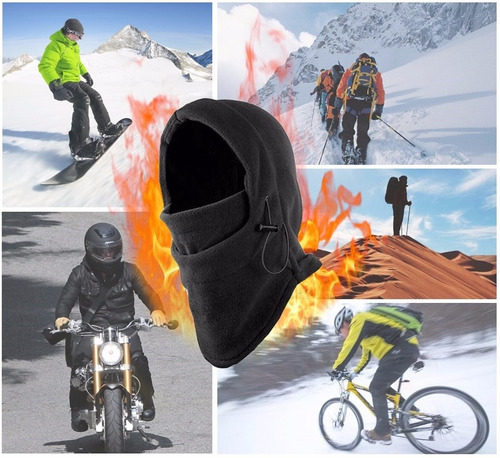 kit 2 - balaclava gorro touca capuz cachecol frio neve moto