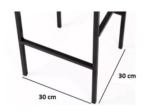 kit 2 banquetas quadrada banco ferro artesanal decoração bar