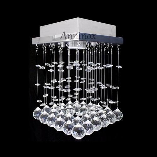 kit 2 bases para montagem de lustre de cristal em inox 17x17