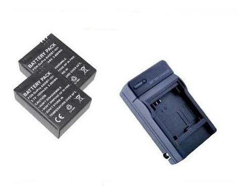 kit 2 bateria + carregador gopro go pro hero 3 e hero 3+ plu