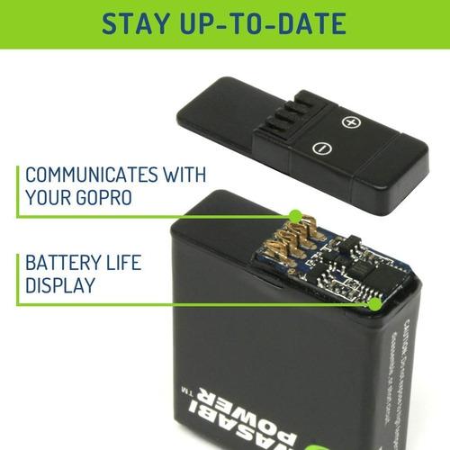 kit 2 baterías 1 cargador compatible gopro hero8 black hero7