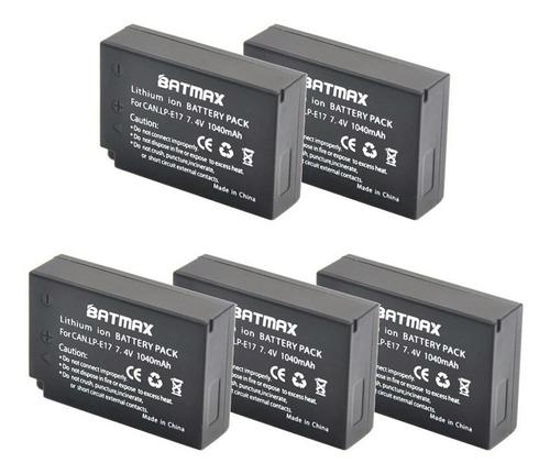 kit 2 baterias lp-e17 -  t6i, t7i e 77d + carregador