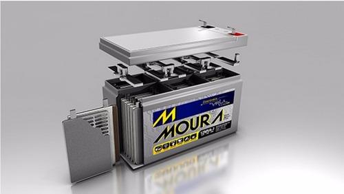 kit 2 baterias moura 12ah 12v bike elétrica/no break/alarme