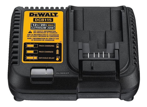 kit 2 baterías y cargador dewalt 20v máx 5.0ah dcb205-2ck