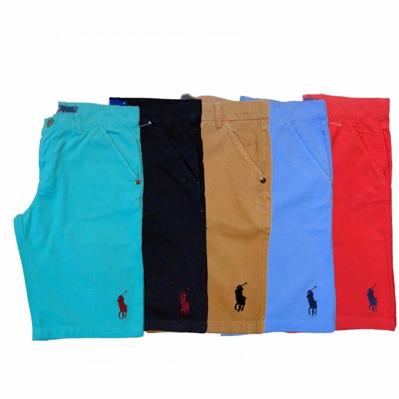 kit 2 bermudas jeans lisa masculina polo varias cores. Carregando zoom. 2e87e3d428ea4